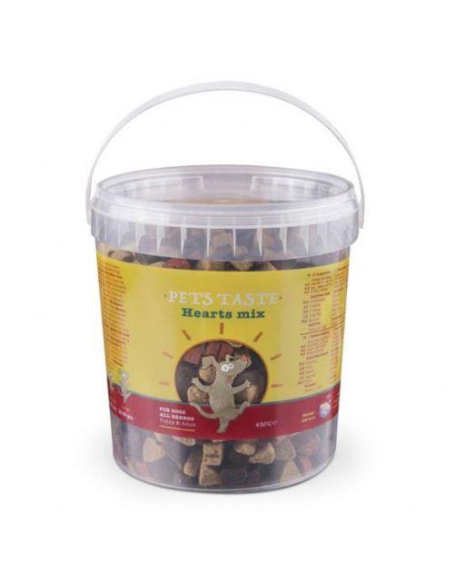 Pets Taste Hearts Mix Kip&Rund&Lam - Hondensnacks