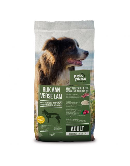 Pets Place Naturals Adult Small Breed Lam - Hondenvoer