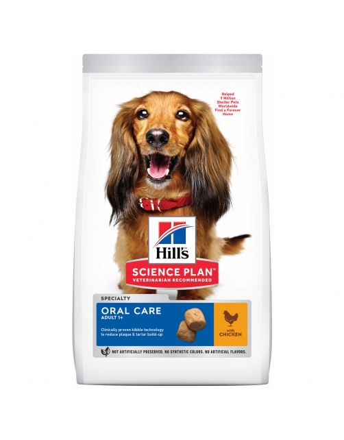Hill's Canine Adult Oral Care Medium Kip - Hondenvoer