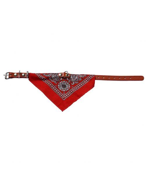 Adori Halsband Met Zakdoek Rood - Hondenhalsband