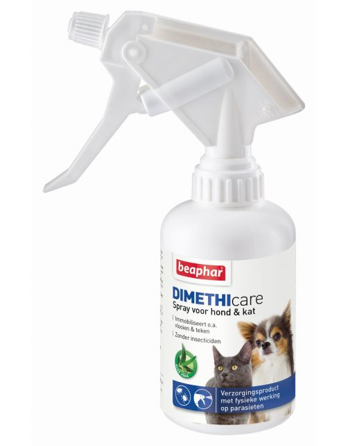 Beaphar Dimethicare Spray Hond En Kat - Anti vlooien en tekenmiddel