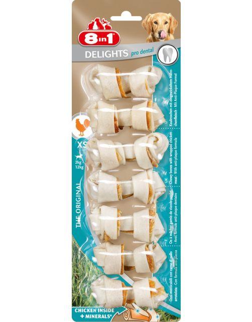 8in1 Delights Pro Dental Kip - Hondensnacks