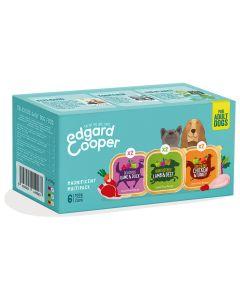 Edgard&Cooper Kuipjes Multipack Adult Chicken Game Lamb - Hondenvoer - Kip Wild Lam 6x100 g
