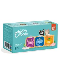 Edgard&Cooper Kuipjes Multipack Cat Adult - Kattenvoer - 6x85 g