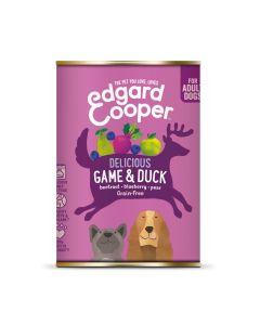 Edgard&Cooper Blik Game Duck Adult - Hondenvoer - Wild Eend Rode Biet 400 g Graanvrij