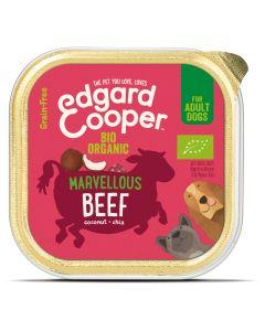 Edgard&Cooper Kuipje Bio Beef Adult - Hondenvoer - Rund Kokos Chiazaad 100 g Biologisch