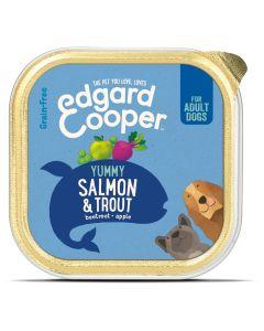 Edgard&Cooper Kuipje Salmon Trout Adult - Hondenvoer - Zalm Forel Rode Biet 150 g Graanvrij