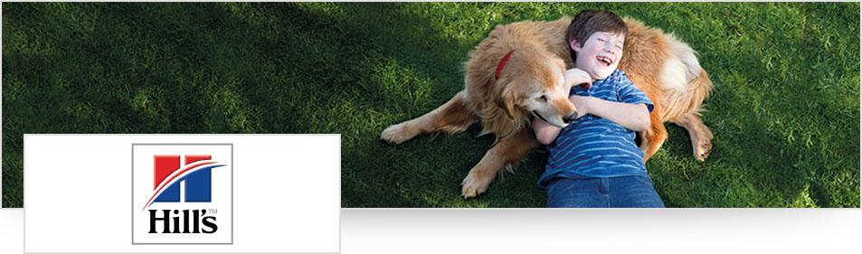 Hill's hond en jongen