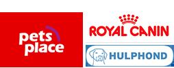 Logo's Pets Place Stichtting Hulphond Royal Canin